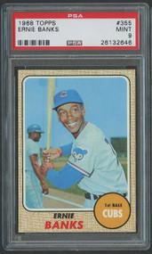 1968 Topps #355 Ernie Banks HOF PSA 9