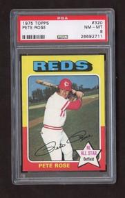 1975 Topps #320 Pete Rose PSA 8