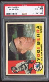 1960 Topps #480 Yogi Berra HOF PSA 6