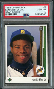 1989 Upper Deck #1 Ken Griffey, Jr. Rookie - PSA 10 Gem Mint