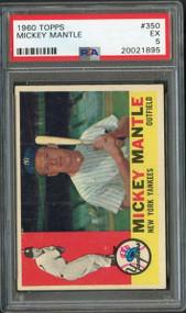 1960 Topps #350 Mickey Mantle HOF PSA 5 - Centered