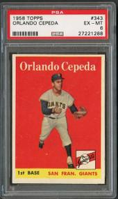 1958 Topps #343 Orlando Cepeda HOF - PSA 6