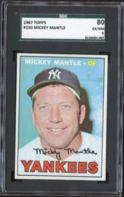 1967 Topps #150 Mickey Mantle SGC 80/6 - Centered