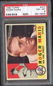 1960 Topps #377 Roger Maris PSA 8 - Few Graded Higher
