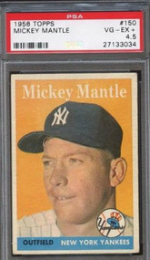1958 Topps #150 Mickey Mantle PSA 4.5 - Centered