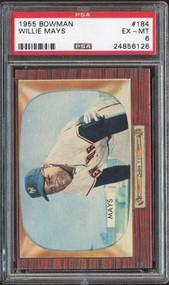 1955 Bowman #184 Willie Mays HOF PSA 6 - Centered