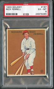1933 Goudey Rick Ferrell (HOF) #197-PSA 6-Centered