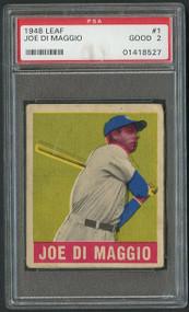 1948 Leaf Joe Di Maggio #1 PSA 2- Centered
