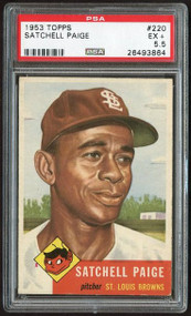 1953 Topps #220 Satchell Paige - PSA 5 - Centered
