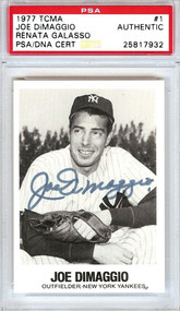 1977 TCMA Joe DiMaggio Auto PSA/DNA Certified