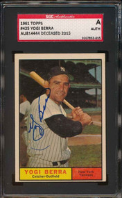 1961 Topps Yogi Berra Autograph- SGC Authentic/Certified
