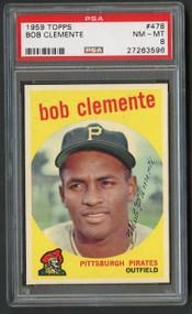 1959 Topps #478 Bob Clemente PSA 8 NM-M