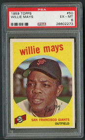 1959 Topps Willie Mays #50 PSA 6 -High End