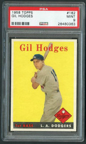 Gil Hodges 1958 Topps #162 Card-PSA 9-Highest Graded
