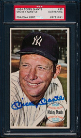 1964 Topps Giants Mickey Mantle Authentic Auto-PSA/DNA