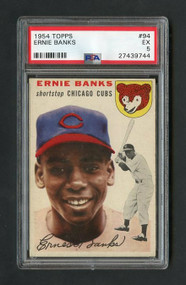 1954 Topps #94 Ernie Banks Rookie -PSA 5 - Centered