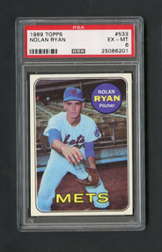 1969 Topps #533 Nolan Ryan PSA 6 - Centered - 2nd Year