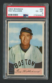 1954 Bowman #66 Ted Williams PSA 6 (Read Story of Card)