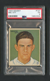 1933 Goudey Mel Ott Baseball Card