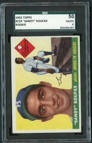 Sandy Koufax Rookie Card.