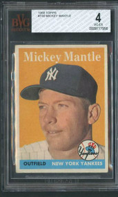 1958 Topps Mickey Mantle BVG 4