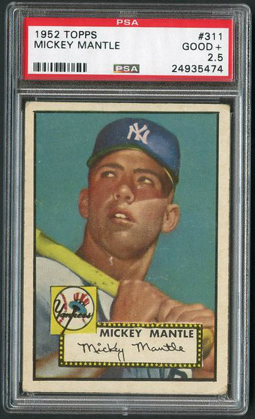 1952 Topps #311 Mickey Mantle Rookie Card