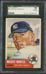 1953 Topps Mickey Mantle Baseball Card