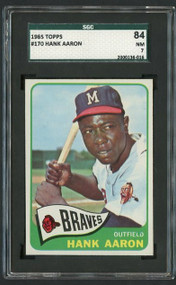 1965 Topps #170 Hank Aaron SGC 7 - Centered