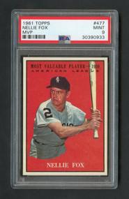 1961 Topps #477  Nellie Fox MVP - PSA 9 Mint