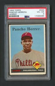 1958 Topps Pancho Herrera Error (Herrer) - PSA 4