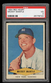 1954 Red Heart Mickey Mantle PSA 3