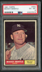 1961 Topps #300 Mickey Mantle PSA 6