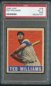 1948 Leaf #76 Ted Williams PSA 5 (PD Qualifier)
