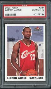 2003 Fleer #261 LeBron James RC Rookie PSA 10 Gem Mint