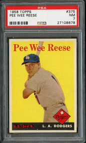 1958 Topps #375 Pee Wee Reese PSA 7  - Centered
