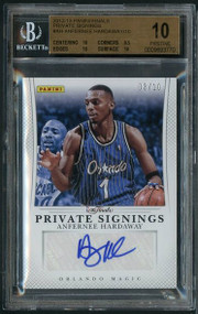 2012 Panini Private Signatures Anfernee Hardaway Auto BGS 10 Gem Mint - Pop 1!