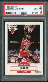 1990 Fleer #26 Michael Jordan PSA 10- Centered Front and Back