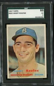 1957 Topps #352 Sandy Koufax SGC 5/60