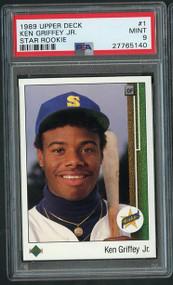 1989 Upper Deck Ken Griffey, JR. #1 RC Rookie PSA 9