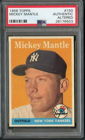 1958 Topps Mickey Mantle #150- Centered - PSA Authentic
