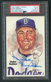 1981 Perez - Steele Duke Snider Autograph - PSA 5 (Auto 8)