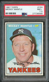 1967 Topps Mickey Mantle #150 PSA 7.5