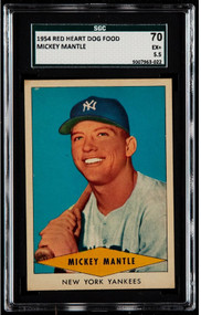 1954 Red Heart Dog Food Mickey Mantle SGC 5.5/70 - Centered