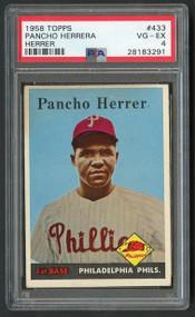 1958 Topps Pancho Herrera Herrer Error