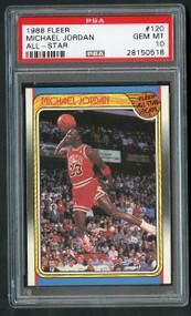 1988 Fleer Michael Jordan All-Star #120 - PSA 10 Gem Mint