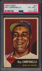 1953 Topps Roy Campanella HOF #27 PSA 6.5 - Centered