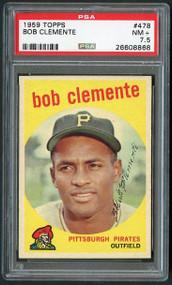 1959 Topps Roberto Clemente #478 HOF PSA 7.5 - Centered