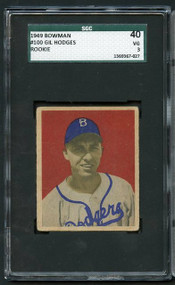 1949 BOWMAN GIL HODGES  RC Rookie #100 HOF SGC 3/40