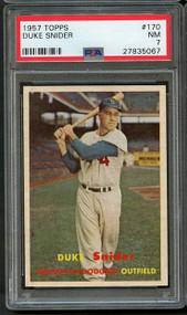 1957 Topps Duke Snider #170 HOF - PSA 7 - Centered