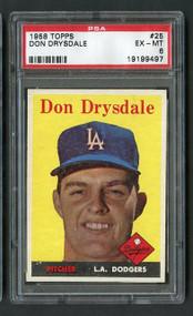 1958 Topps Don Drysdale #26 HOF PSA 6 Centered UNDERGRADED